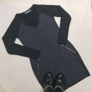 Athleta Enchanted Striped Sweater Dress w/ Pockets